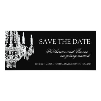 Chandelier Save the Date Wedding Invitation