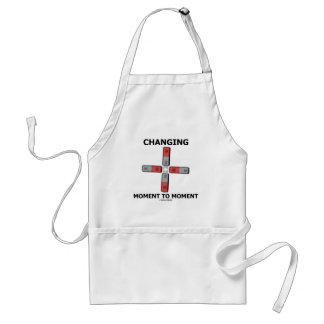 Changing Moment To Moment (Magnetism Humor) Standard Apron