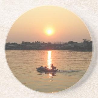 Chao Phraya River Sunset ... Ayutthaya, Thailand Beverage Coasters