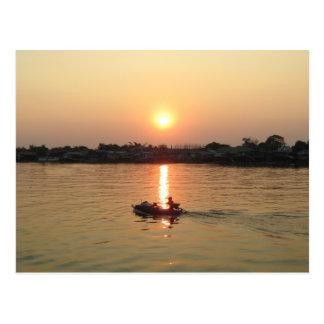 Chao Phraya River Sunset ... Ayutthaya, Thailand Postcard