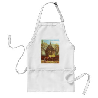 Chapel at Nuenen, Churchgoers by Vincent van Gogh Standard Apron