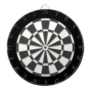 Charcoal Gray Black And White Dartboard