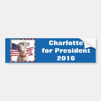 Charlotte for President 2016 Bumper Sticker