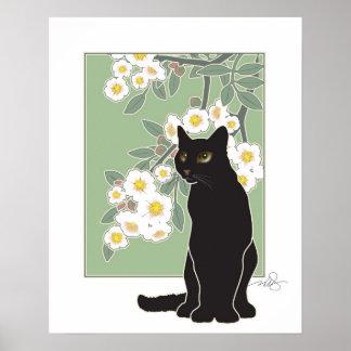 Chat Noir et Fluer de Pommier Poster