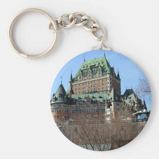 Château Frontenac, Québec, Canada Basic Round Button Key Ring