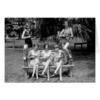 Check Out Those Ukuleles! - 1920s Greeting Card
