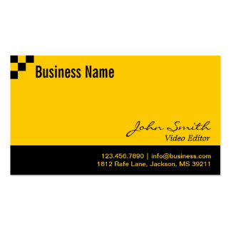 Checkerboard Video Editor Business Card
