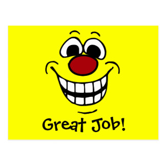 Cheerful Smiley Face Grumpey Postcard