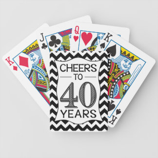 Cheers to 40 Years Deck Of Cards