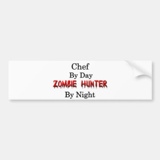 Chef/Zombie Hunter Bumper Sticker