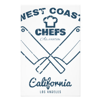 Chefs Vintage T-shirt graphics print Customized Stationery