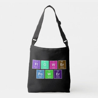 Chemical periodic table of elements: FlOWEr PoWEr Tote Bag