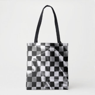 Chequered Flag All-Over-Print Tote Bag