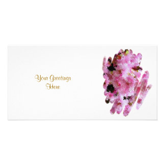 CHERRY BLOSSOM PERSONALIZED PHOTO CARD