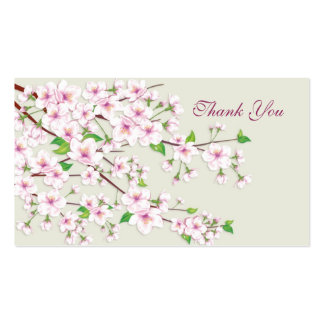 Cherry Blossom (Sakura).Thank you Wedding/Gift Tag Pack Of Standard Business Cards