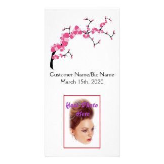 Cherry Blossom Tree Branch Photo Card