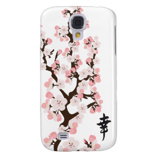 Cherry Blossoms and Kanji 3G/3GS  Samsung Galaxy S4 Cases