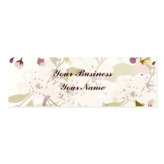 Cherry Blossoms Skinny Indestructible Business Pack Of Skinny Business Cards