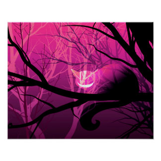 Cheshire Cat Poster - Pink