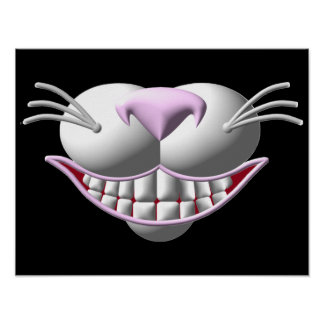 Cheshire Cat Smile Poster