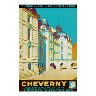Cheverny ~ Vintage French Travel Poster