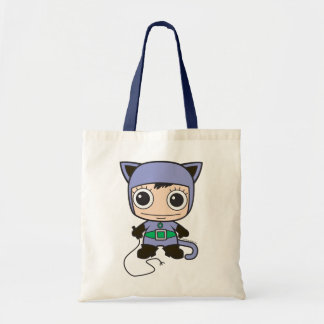 Chibi Cat Woman Budget Tote Bag