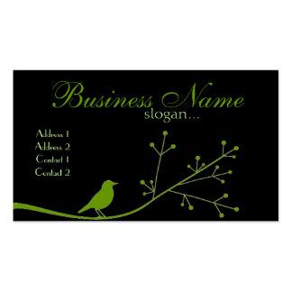 Chic Boutique Green Bird Business Card