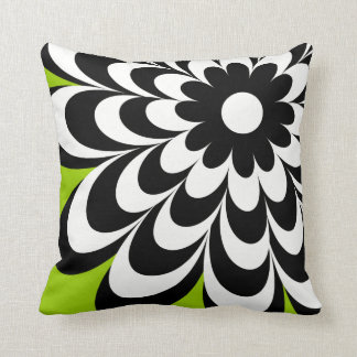 Chic Daisy Personalized Throw Pillow - Lime Green Cushions