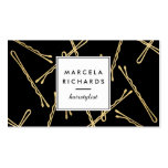 Chic Gold Bobby Pins Hairstylist, Hair Salon II Pack Of Standard Business Cards