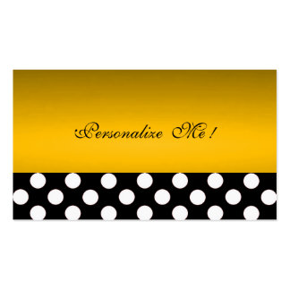 Chic Gold Modern Elegant Polka Dots Save-the-Date Pack Of Standard Business Cards
