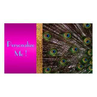 Chic Pink Peacock Trendy Girly / House-of-Grosch Pack Of Standard Business Cards