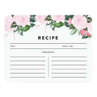 Chic Romance   Recipe Card 11 Cm X 14 Cm Invitation Card