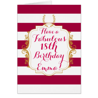 Chic Vintage Style Birthday Greeting Card