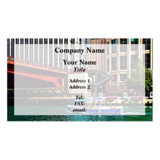 Chicago IL - Water Taxi by Columbus Drive Bridge Pack Of Standard Business Cards