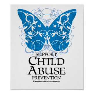 Child Abuse Butterfly Poster