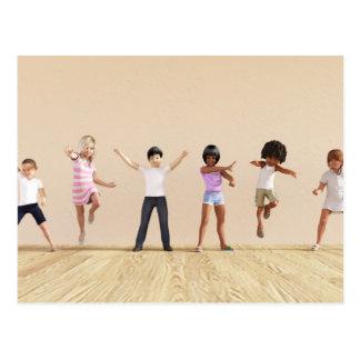 Child Development with Children Learning Postcard