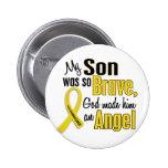 Childhood Cancer ANGEL 1 Son 6 Cm Round Badge