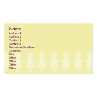 Children - Business Pack Of Standard Business Cards