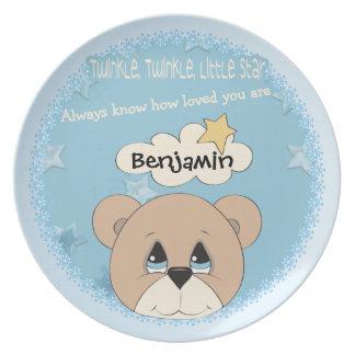 Child's Twinkle Little Star Plate