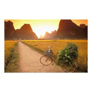 China, Guangxi. Yangzhou, Bicycle on country Photo