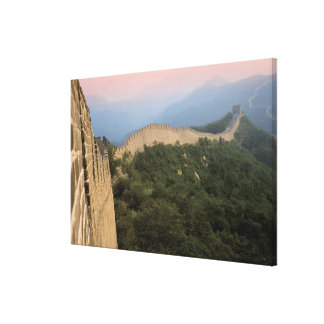 China, Huairou County, Mutianyu section of The 2 Stretched Canvas Print