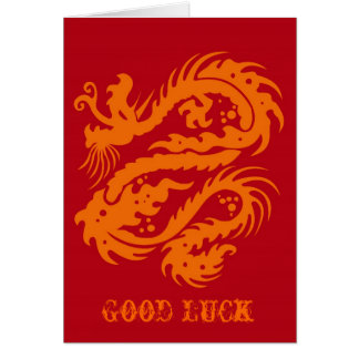 Chinese Good Luck note card