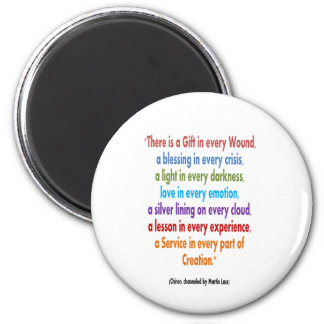 CHIRON Chennel : Wisdom Words KEEP at your DESK 6 Cm Round Magnet