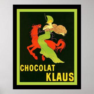 Chocolat Klaus ~ Vintage French Advertisement Poster