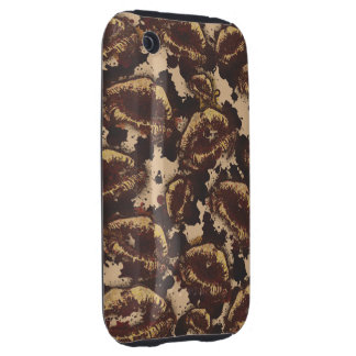 Chocolate Chip Abstract Lips Tough iPhone 3 Cover