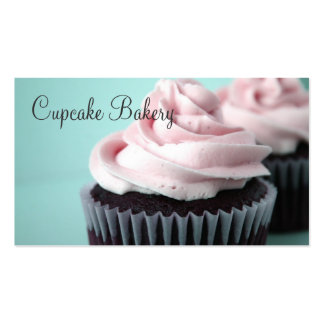 Chocolate Cupcakes Pink Vanilla Frosting Pack Of Standard Business Cards