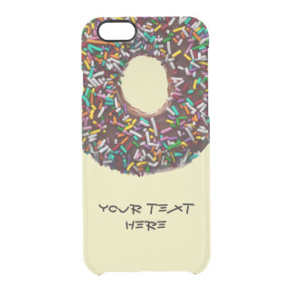 Chocolate Donut with colorful sprinkles Clear iPhone 6/6S Case