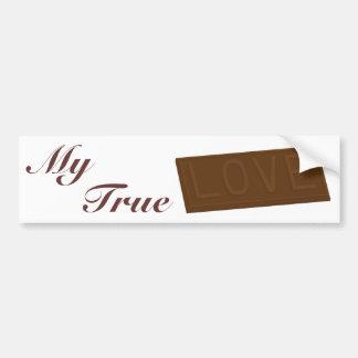 Chocolate Love Bar Bumper Sticker