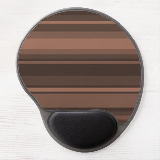 Chocolate stripes gel mouse pad