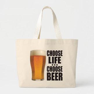 Choose Beer. Jumbo Tote Bag